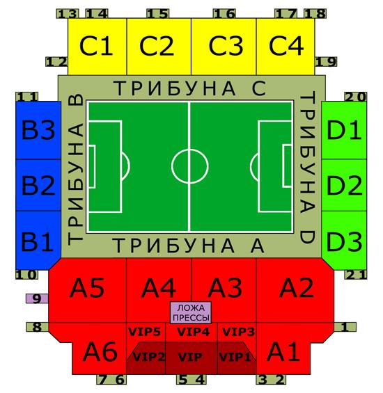 Схема стадиона химки