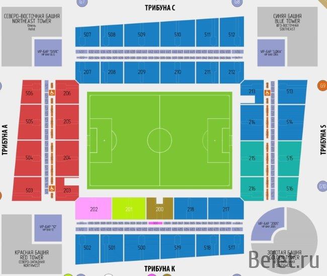 Билеты на стадион ЦСКА Арена