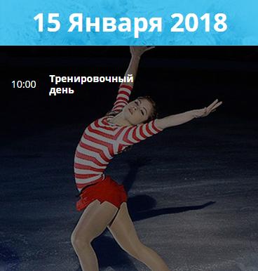 Чемпионат Европы по Фигурному Катанию 15 января 2018
